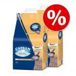 Ekonomipack: 2/3 påsar Catsan kattsand till lågt pris! Natural (2 x 8 l)
