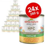 Ekonomipack: Almo Nature HFC 24 x 280 g - Tonfisk & kyckling