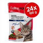 Ekonomipack: Feline Porta 21 portionspåsar 24 x 100 g - Tonfisk med nötkött - spannmålsfritt