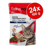 Ekonomipack: Feline Porta 21 portionspåsar 24 x 100 g - Tonfisk med räkor