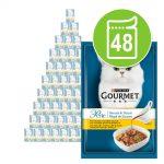 Ekonomipack: Gourmet Perle Delicious Sauce 48 x 85 g - Kyckling i sås med en fin grillkycklingdoft