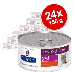 Ekonomipack: Hill's Prescription Diet Feline 24 x 156 g burkar - a/d Restorative Care Chicken hund/katt i burk