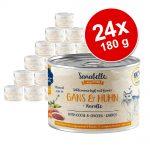Ekonomipack: Sanabelle All Meat 24 x 180 g - Gås & kyckling