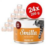 Ekonomipack: Smilla Poultry Pot 24 x 200 g Mix: Geflügelherzen & Rind
