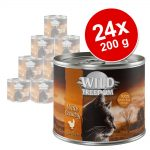 Ekonomipack: Wild Freedom Adult 24 x 200 g - Wide Country - Chicken Pure