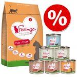 Feringa blandpack: Torr- och våtfoder - Kombi II: 400 g Fisk + 1,2 kg våtfoder