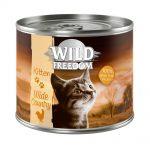 Kanonpris! Wild Freedom Kitten 6 x 200 g - Wide Country - Veal & Chicken