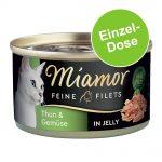 Miamor Fine Filets 1 x 100 g - Ljus tonfisk & kalamari i gelé