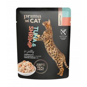 Prima Cat Tonfisk med Räkor i Gelé (4x50 g)