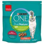 Purina ONE Dual Nature Sterilized Nötkött med spirulina - Ekonomipack: 3 x 1,4 kg