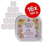 Rosie's Farm Adult 16 x 100 g - Lax & kyckling med räkor