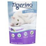 Tigerino Crystals Lavendel kattsand med lavendeldoft Ekonomipack: 6 x 5 l