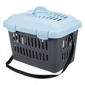 Trixie Capri transportbur - L 45 x B 33 x H 33 cm (mörkgrå / ljusblå