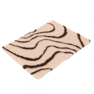 Vetbed® Isobed SL Wave hundfilt - creme/brun - L 100 x B 75 cm