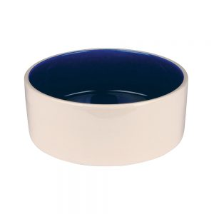 Trixie Keramikskål Vit & Blå (350 ml)
