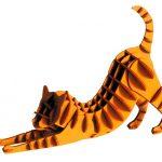 3D-pappersmodell Rödbrun katt