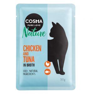 Cosma Nature i portionspåse 6 x 50 g - Kyckling & lax