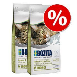 Ekonomipack: 2 x 10 kg Bozita Feline kattfoder till lågpris! Grainfree Diet & Stomach Älg