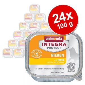 Ekonomipack: Animonda Integra Protect Adult Renal 24 x 100 g portionsform Kyckling