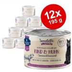 Ekonomipack: Sanabelle All Meat 12 x 195 g - Nötkött & kyckling