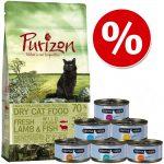 Provset: Purizon 400 g & Cosma Nature 6 x 70 g - Blandpack 3: Purizon Adult Lamb & Fish