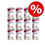 12 x 400 g / 405 g Yarrah Organic till sparpris! - Chunks: eko kyckling & kalkon med eko brännässlor & eko tomat (12 x 405 g)