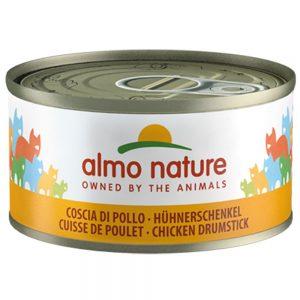 Almo Nature 6 x 70 g - Kycklinglår