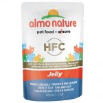 Almo Nature HFC Jelly Pouch 6 x 55 g Tonfisk & sjötunga