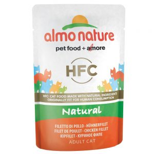Almo Nature HFC Pouch 6 x 55 g - 3 sorters kyckling