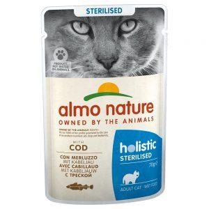 Almo Nature Holistic Sterilised portionspåse - Mix 12 x: 6 x med kyckling och 6 x med torsk