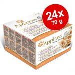 Blandat sparpack: Applaws kattmat Adult 24 x 70 g - Chicken Selection