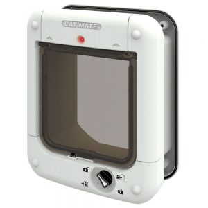 Cat Mate Microchip kattlucka 360 W - Adapter för montering i dörr med metall eller glasdörr (361W)
