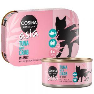 Cosma Asia in Jelly 6 x 170 g Tonfisk & krabbkött