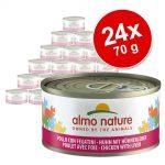 Ekonomipack: Almo Nature 24 x 70 g - Kyckling & lever