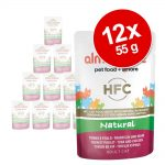Ekonomipack: Almo Nature HFC Pouch 12 x 55 g - Mix: Kyckling + tonfisk