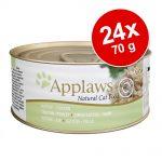 Ekonomipack: Applaws Kitten kattmat 24 x 70 g - Kitten Kyckling