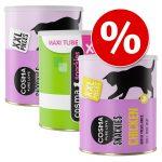 Ekonomipack: Cosma Snackies XXL Maxi Tube frystorkat kattgodis 3 x lax (450 g)