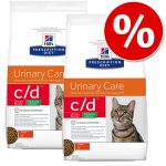 Ekonomipack: Hill's Prescription Diet Feline - Feline c/d Urinary Care Multicare kyckling (2 x 10 kg)