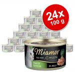 Ekonomipack: Miamor Fine Filets 24 x 100 g - Blandpack med kyckling och tonfisk