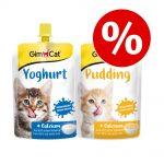 GimCat Mix: Pudding + Yoghurt för katter -Ekonomipack: 6 x 150 g Pudding & Yoghurt