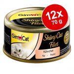 GimCat ShinyCat Filet 12 x 70 g - Kyckling