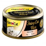 GimCat ShinyCat Filet 6 x 70 g - Kyckling & räkor