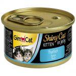 GimCat ShinyCat Jelly Kitten 6 x 70 g - Tonfisk