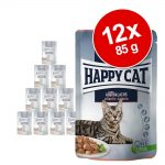 Happy Cat Pouch Meat in Sauce 12 x 85 g - Spring Water Trout - öring