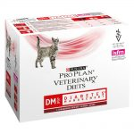 Purina Pro Plan Veterinary Diets Feline DM ST/OX - Diabetes Management Beef - 10 x 85 g