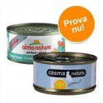Superblandpack: 24 x 70 g Almo Nature Legend och 6 x 70 g Cosma Nature! - Kycklinglår + Cosma Nature provpack