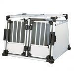 Trixie Aluminium transportbur dubbel - Stl. M-L: B 93 x T 88 x H 64 cm