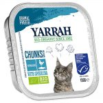Yarrah Organic Chunks in Sauce 6 x 100 g - Eko-kyckling & eko-kalkon med eko-aloe vera