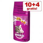 10 + 4 kg på köpet! 14 kg Whiskas torrfoder - 1+ Sterile Kyckling