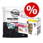 1,4 kg Nutro torrfoder + 12 x 85 g Perfect Fit Mixpack till sparpris! - Adult Turkey & Chicken
